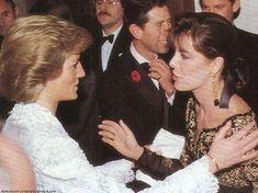 Princess Diana with Princess Caroline of Monaco.