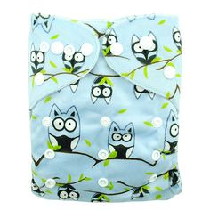 Baby' Reusable & Washable & Adjustable Goofy Owls Minky Pocket Diaper, 43% discount @ PatPat Mom Baby Shopping App