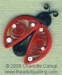 Quilled Lady Bug..