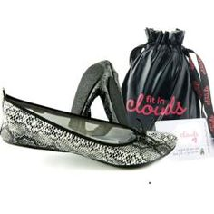 Fit In Clouds Women's 'Black Diamond' Folding Flats