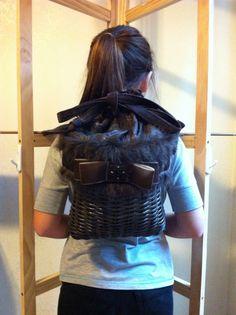 Handwoven Mini Bling Basket Back Pack