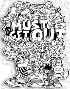Must Get Out - Monster Doodle