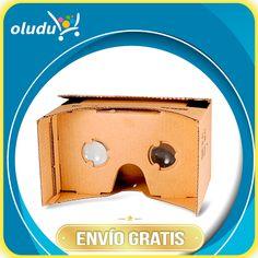 """""""Google Cartón del teléfono móvil de realidad virtual 3D Glasses"""" Nuevo y de alta calidad de cartón Google 3D video gafas de realidad virtual. Fácil y cómodo de manejar, se puede disfrutar de películas en 3D y juegos en 3D con su smartphone."""