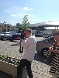Photoshooting in Rauma. Kim Ekman, Vision 51. #matkailumarkkinointi
