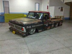 Ford f 100 slammed patina this shit rules! Bagged Trucks, Lowered Trucks, Lifted Trucks, Custom Ford Trucks, Ford Pickup Trucks, Cool Trucks, Big Trucks, F100, Truck Names