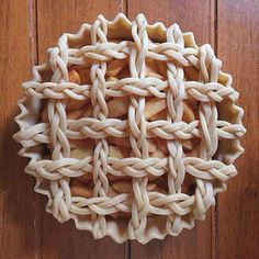 Beautiful braided pice crust Found on Facebook