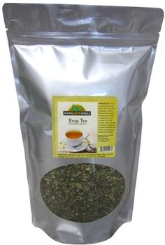 RESPIRATORY TEA Organic Wildcrafted Natural Minty Herbs for COLD & FLU Relief and Lung Support