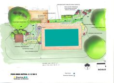 Concept Plan for pool and garden, Kent Island