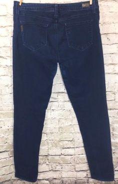 """PAIGE Jeans Peg Skinny Stretch Denim Size 31 Dark Wash Low Rise 32"""" Made in USA #JCrew #SlimSkinny"""