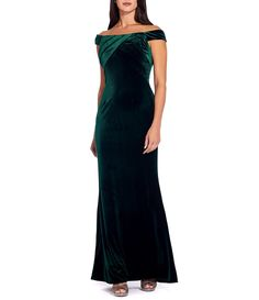Shop for Adrianna Papell Off-the-Shoulder Stretch Velvet Mermaid Gown at Dillard's. Visit Dillard's to find clothing, accessories, shoes, cosmetics & more. The Style of Your Life. Clinique Gift With Purchase, Winter Bridesmaids, Mermaid Gown, Adrianna Papell, Formal Dresses, Wedding Dresses, Shoulder Sleeve, Dillards, Off The Shoulder