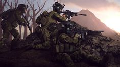 spec ops aiming at the horizon by gtanoofa on DeviantArt Special Forces Gear, Military Special Forces, Anime Military, Military Gear, Cyberpunk, Military Drawings, Future Soldier, Military Pictures, Special Ops