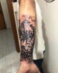 #dağdövmemodelleri #mountain #mountaintattoo Mountain Tattoo, Watercolor Tattoo, Tattoos, Instagram Posts, Tatuajes, Tattoo, Temp Tattoo, Tattos, Tattoo Designs
