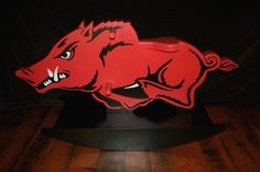 RAZORBACK ROCKING HORSE!!!   CRAZY AMAZING....MAKES WISH I HAD A BABY TO BUY IT FOR!!!