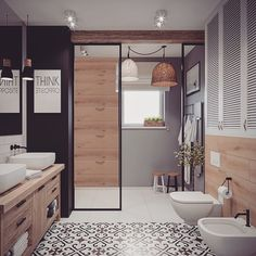Bathroom Inspiration, Interior Inspiration, Surf House, Bathroom Interior, Home Projects, Small Bathroom, Architecture Design, Sweet Home, Teak