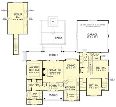 Conceptual Plan 1278 is Now In Progress! This small, #Craftsman design is 3 beds, 2 baths, approx. 1914 sq. ft. with a large kitchen, walk-in #closets in each bedroom, and mud/utility rooms. Tell us what you think! http://houseplansblog.dongardner.com/conceptual-plan-1278/