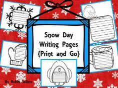 When I had a snow day printables