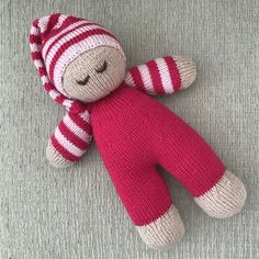 Best 12 Hand Knitted Baby Dumpling Doll by DreamDollies on Etsy – SkillOfKing. Knitted Doll Patterns, Christmas Knitting Patterns, Knitted Dolls, Sewing Patterns, Crochet Patterns, Knitted Baby, Love Knitting, Arm Knitting, Double Knitting