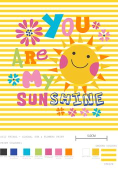 You Are My Sunshine - print by @designbyday