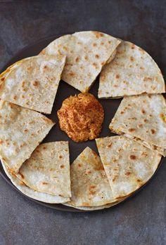Chicken Recipes Chicken Quesadilla with Pumpkin Goat Cheese Spread