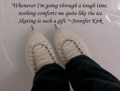 This is SO true for me. Everytime I needed to clear my head I always went to the rink Ice Skating Funny, Ice Skating Quotes, Figure Skating Quotes, Skating Rink, Figure Skating Dresses, Ice Hockey Sticks, Synchronized Skating, Figure Ice Skates, Skate 3