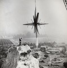 During the early 70's, a huge star was placed on top of the Matterhorn for Christmas. During winter, Santa Clause helped a crew raise the massive star onto the Matterhorn. This idea was soon scapped because the light at night distracted drivers on...