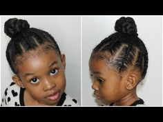 4 Part Braided Loop | Hairstyles for Little Girls - YouTube