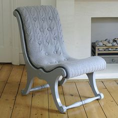 Hand Knit Sweater Chair By Melanie Porter After Working As A Knitwear  Designer For A