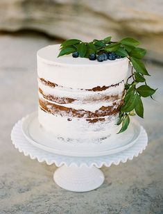 white wedding cakes 17 Naked Cakes and How to Make Your Own - A Practical Wedding A Practical Wedding: Were Your Wedding Planner. Wedding Ideas for Brides, Bridesmaids, Grooms, and White Wedding Cakes, Elegant Wedding Cakes, Wedding White, Gold Wedding, Simple Elegant Wedding, Glitter Wedding, French Wedding, Elegant Cakes, Purple Wedding