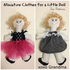 I've found the perfect project to use up all your little scraps of fabric, random buttons, lace and tiny seed beads!  Make a doll ho...