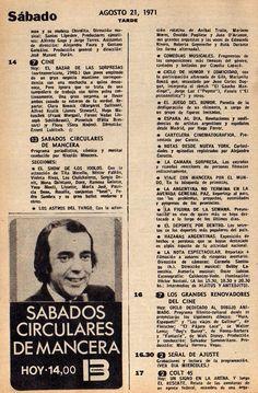 Página de la revista TV GUIA, con programación de 1971.