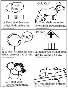 coloring pages for kids each 10 commandments | Thou Shalt Not Steal ...