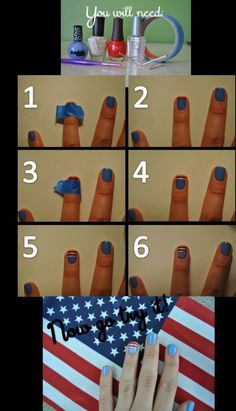 4th of July Nail tutorial by patrica