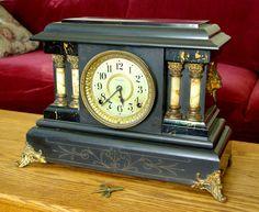 Seth Thomas Adamantine Mantel Clock by C r u s a d e r, via Flickr