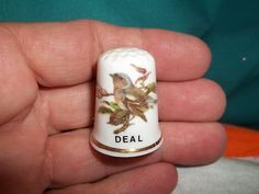 Vintage Fine Bone China Deal Bird w 24K Gold Gilding Collectible Thimble | eBay