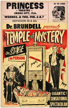 'DR. BRUNDELL PRESENTS THE TEMPLE OF MYSTERY'... | Scout's Atomic Flash