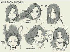 Drawing Poses, Drawing Tips, Drawing Sketches, Art Drawings, Drawing Ideas, Drawing Drawing, Drawing Hair Tutorial, Manga Tutorial, Animae Drawings