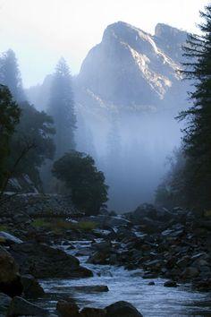 Merced River morning, near Yosemite