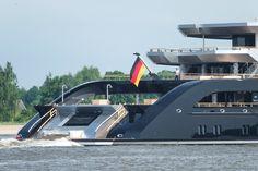 135m Lürssen project Thunder departs on sea trials .