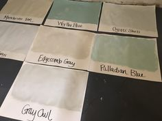 Image result for manchester tan palladian blue Manchester Tan Benjamin Moore, Palladium Blue, Gray Owl, Interior Paint Colors, Blue Grey, Cards Against Humanity, Condo, Choices, Interiors