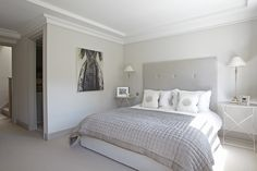 th2 Designs.© Neutral scheme used for this Master bedroom creating a fresh and calming atmosphere