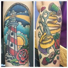 Here are a couple of Healed pieces. Tax time is coming , time to make your appointment for you new piece. 302-226-8145 @homewardtattoo #rehobothtattoo #rehoboth #rehobothbeach #Delawaretattoo #delaware #delawarebound #delawareart #302 #homewardtattoo #homewardtattoorehoboth #milton #millsboro #longneck #oceanview #bethany #dewey #lewes #delawarebeaches #igdelaware #delawarelife #ocmd #lowerdelaware #tattoo #delawarelighthouse #lighthousetattoo #sewingtattoo #semstress #nautical