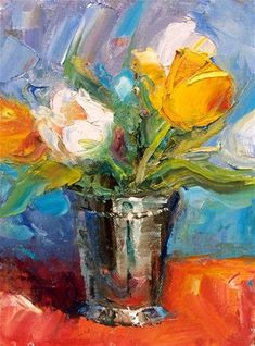 """Tulips in Silver"" by Julie Ford Oliver"