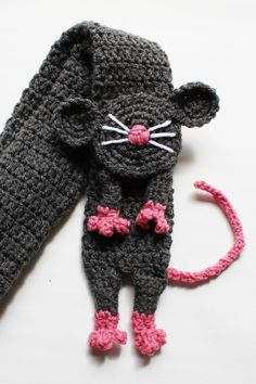 Sweet Lil' Rat Scarf:  crochet pattern for sale