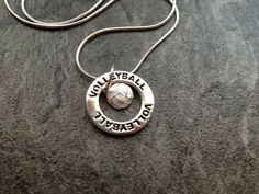 Volleyball Necklace: Silver Volleyball Charm by SilveradoJewelry