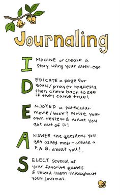 Journaling Ideas! #FreedomJunkies #journal #Ideas