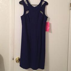 Betsey Johnson Navy Blue Party Dress Size 12