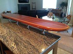 Superbe WOOD SURFBOARD BAR TABLE WALL HANG ART DECOR | EBay