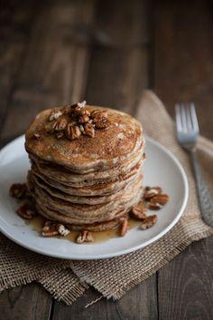 Brown Butter and Pecan Pancakes via Naturally Ella
