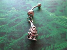 gnome belly button ring body jewelry by sindys on Etsy