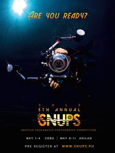 Get ready for the 5th Annual SNUPS! The only UNDERWATER PHOTO COMPETITION FOR AMATEURS..... with serious prizes up for grabs! Pre-registration starts end of March 2015 to avail of the early bird registration fees at www.snups.ph. Competition starts on May 1-4 (Cebu) and May 8-11 (Batangas). Schedule your trips and reserve your guides. For the resorts and dive operations who would like to support the competition, please email me and lets see if we can add your location.
